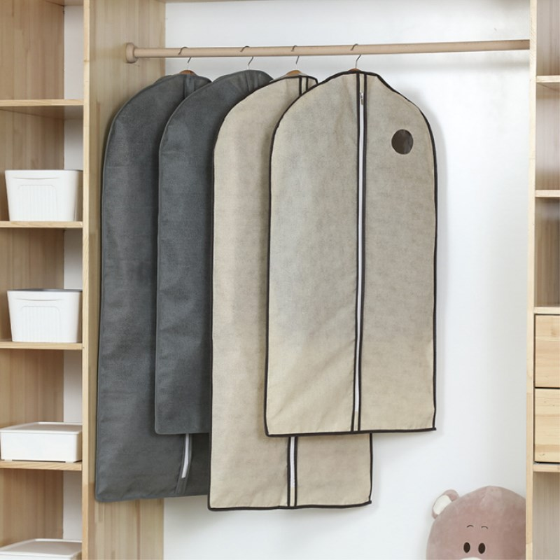 Hanging Clothes Dust Cover Coat Suit Cover Long Non-woven Storage Bag Dust Bag Coat Dust Cover Household Storage Products(China)