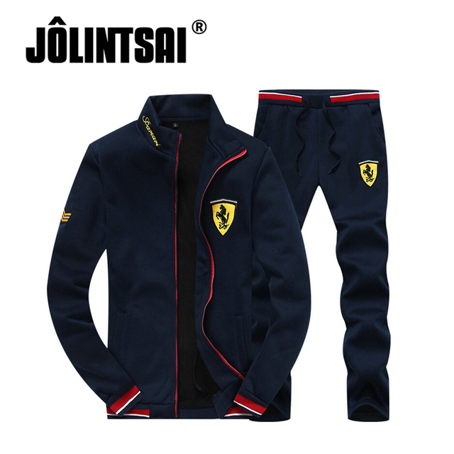 2017 Men Sportswear Hoodie Sweatshirts Spring&Autumn Sporting Suit Mens Hoodies Suits Brand Mens Tracksuits Set Jacket+Pants