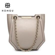 HONGU Girl Top-Handle Shoulder Bag Polyester Chain Tote Lady Temperament Crossbody Bags Designer Bag Famous Brand Women bag 2017
