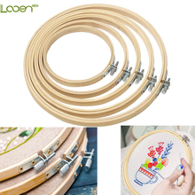 10-30cm Looen Wooden Frame Hoop Circle Embroidery Round Machine Bamboo For Cross Stitch Hand DIY Household Craft Sewing Tools