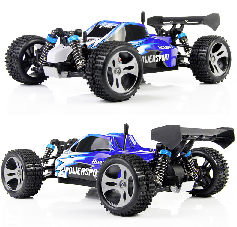 Ewellsold  wltoys A959 2.4G 1/18 Scale Remote Control Off-road Car/RC  buggy /High Speed electric RC CAR(China)