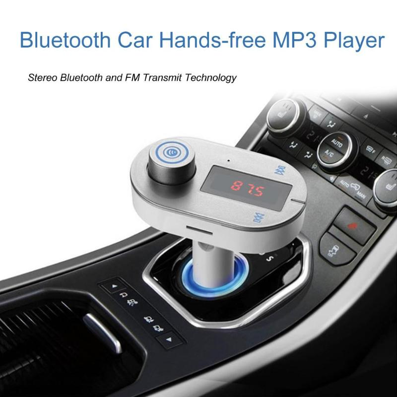 1Pcs T9S Bluetooth Car Hands-free Kit FM Transmitter MP3 Player USB Charger AUX Hands Free Music Mini MP3 Player Car Styling New