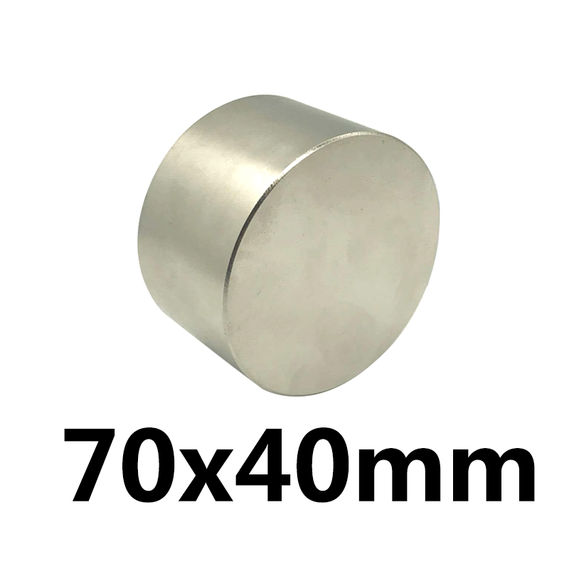 1 pcs N35 Dia70x40 mm chaude ronde aimant 70X40mm Forte aimants Rare Earth Néodyme Aimant 70 x 40mm gros 70*40