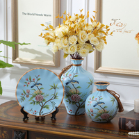 Home decoration Tabletop vase Decorate Bouquet Creative Display Room Decorative tree piece a set small decoration vase europe