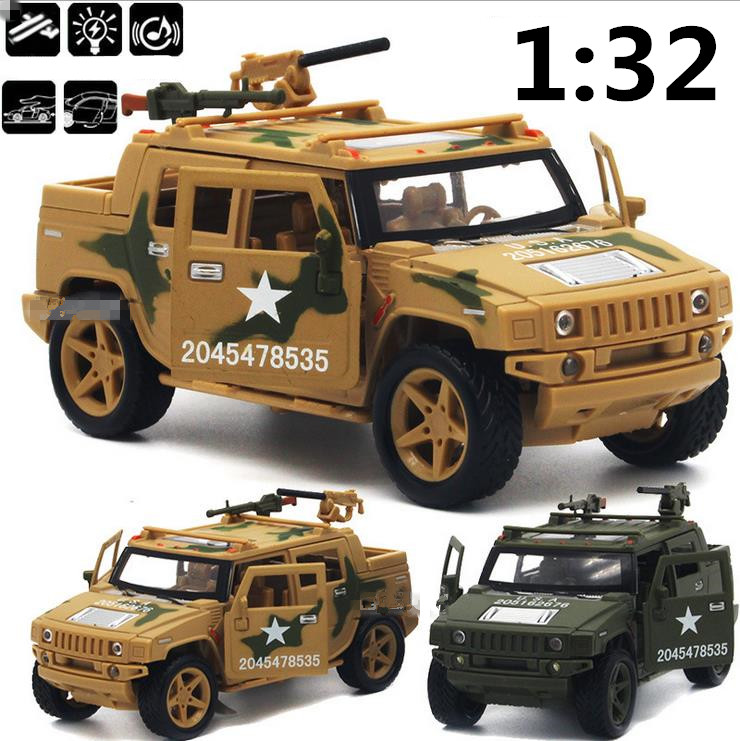 Toy Army Cars : Humvee military model desert car metal diecast cars
