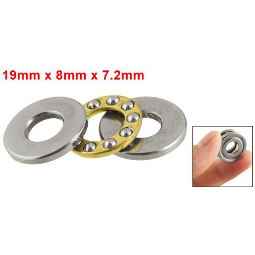Bulk Price Hot Sale Practical 19mm x 8mm x 7.2mm Silver Tone Metal Ball Thrust Bearing