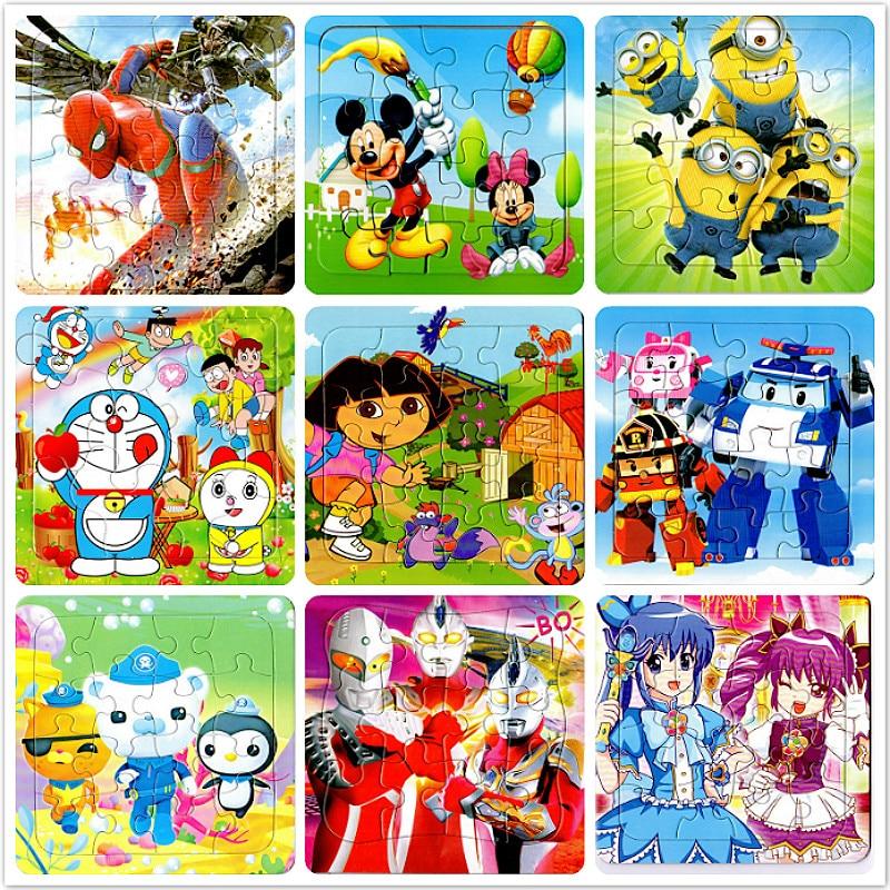 9 Slice Speciale Kleine Stuk Puzzel Speelgoed Kinderen Dieren En Voertuig Papier Puzzel Puzzel Baby Educatief Speelgoed Voor Kinderen