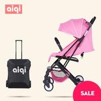4.6kg baby sleeping 180 degree Light folding portable ultra light baby car umbrella two way summer child trolley baby stroller