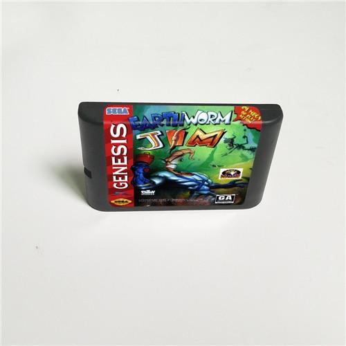 Earthworm Earth Worm Jim 16 Bit MD Game Card For Sega Megadrive Genesis Video Game Console Cartridge