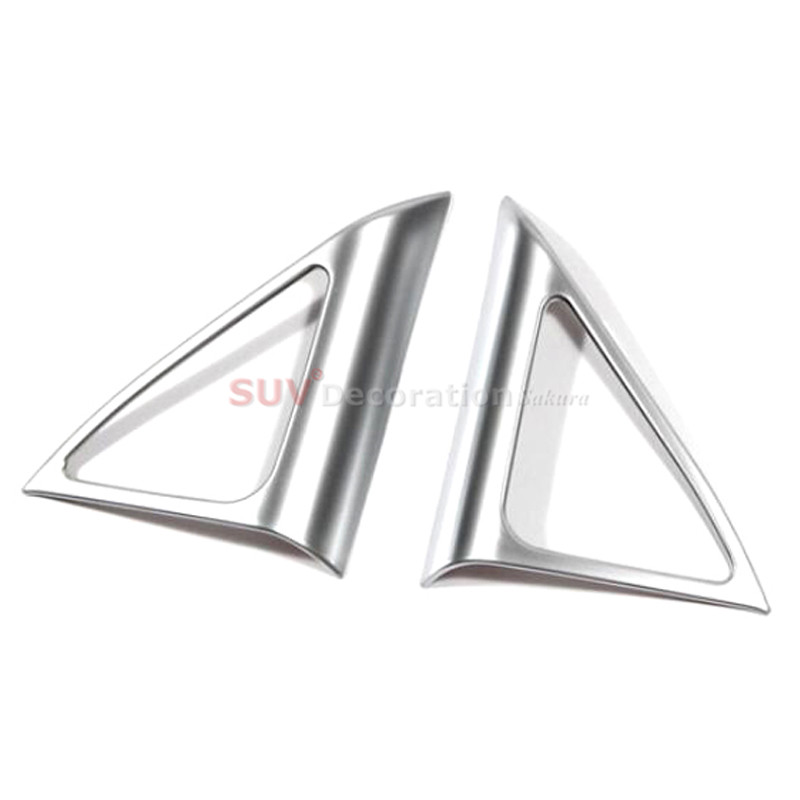 For Audi Q3 2012 2013 2014 2015 2016 2017 abs Matte Car Door Stereo Speaker Audio Ring Decoration Trims Cover Trim 2pcs