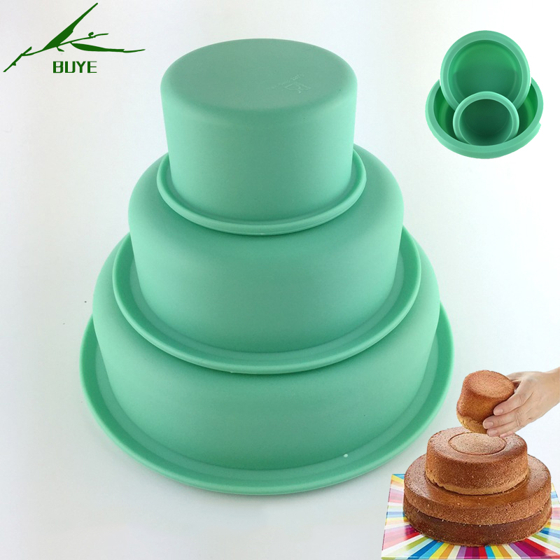 3pcs Set Baking Dishes Amp Pans 3 Layers Round Cake Pan Home