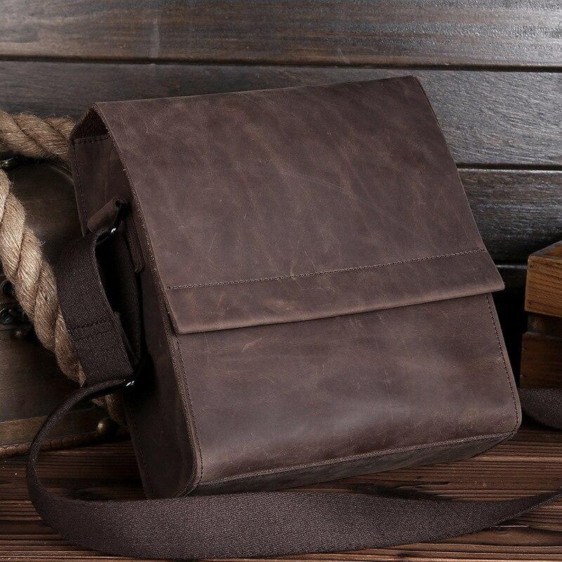 ФОТО The new men Messenger Bag Leather Crazy Madpis shoulder bag iPad package brief paragraph retro briefcase men bag