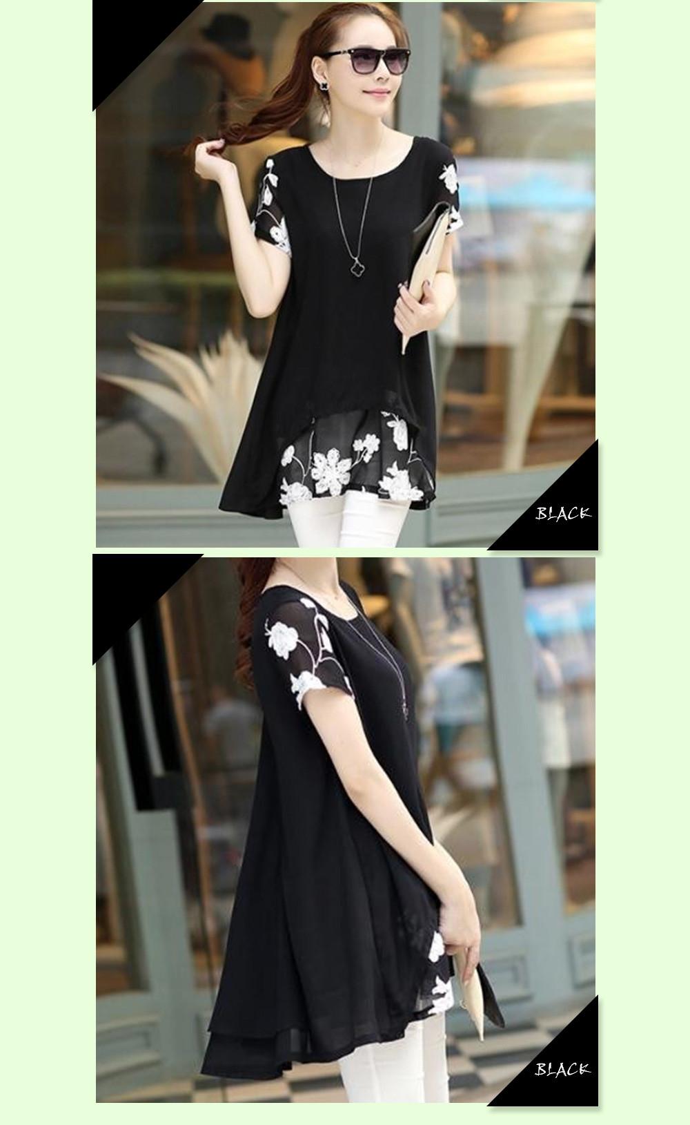 HTB1bhCtOFXXXXcBapXXq6xXFXXXY - Plus Size 5XL Chiffon Blouse Women Clothing Loose Short Sleeve