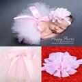 Горячая девочка тюль новорожденный фотографии реквизит бантом юбки подарок на день рождения для девочки повязки 1 компл.