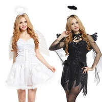 Free shipping during the day to suit cosplay party dance costumes female Halloween fallen angel dress Christmas dress supplies