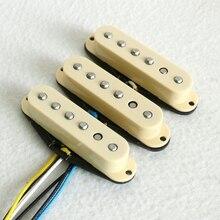 1 Набор смешанных Alnico 5 и 2 наконечников SSS с одной катушкой, звукосниматель ST, гитарный пикап, винтажная плоская работа, одна катушка, звукосниматель, гитарные части