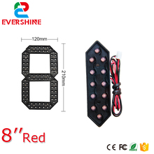 8 Red Color 7 Seven Segment LED Number Module Gas Price LED Display Signs Diesel Price Digital Module LED Outdoor цена