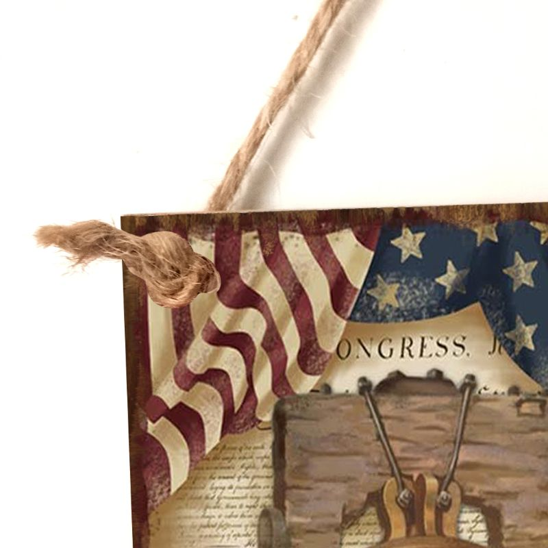 Image 4 - Vintage Wooden Hanging Plaque Freedom Sign Board Wall Door Home Decor Independence Day Party Gift-in Plaques & Signs from Home & Garden