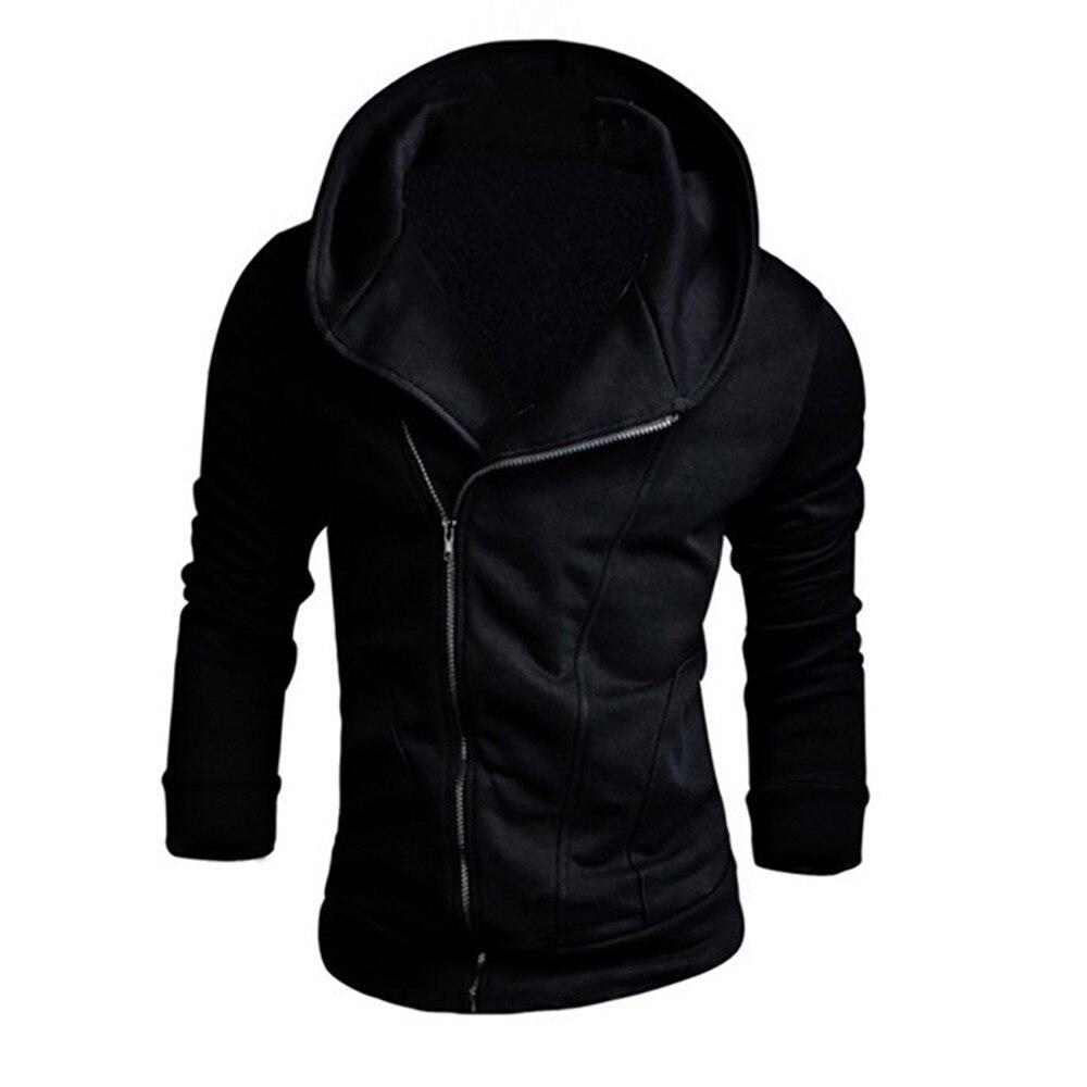 Men Hoodies 2018 Autumn Brand Male Long Sleeve Solid Hoodie Zipper Black Hoodie Men Big Size Moletom Sweatshirts Men Hip Hop