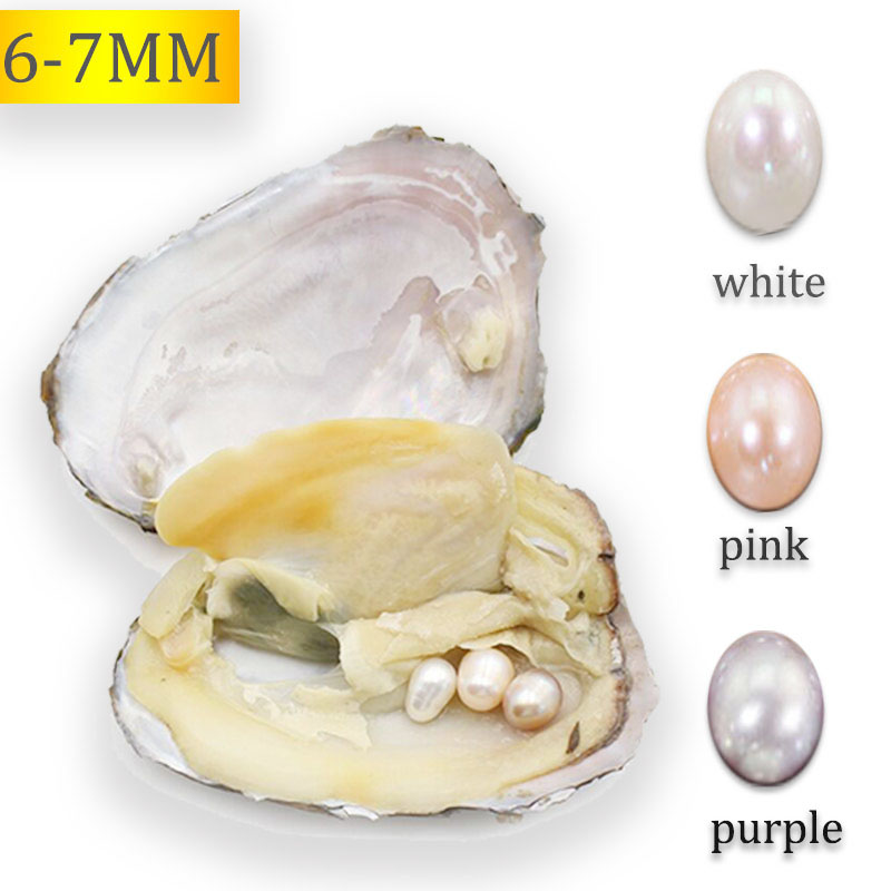 Bulk Oysters 10pcs Natural Pink Color Freshwater Oyster Pearls Love Wish Pearl Party Gift Mussel AAA Real Rice Oval Pearls FP142
