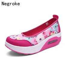 2019 New Women Flat Platform Shoes Woman Slip On Loafers Shallow With Air Cushion Slipons Boat Flats Sapato Feminino стоимость