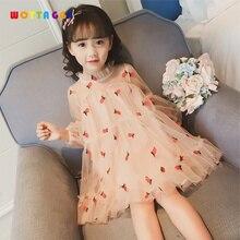 WOTTAGGA 2019 Summer Girl Dress Kids Children Regular Sleeve Strawberry Soft Cotton Princess Dresses Girls Clothes