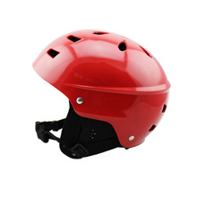 Lightweight portable safety helmet for water sports with 15 air vents