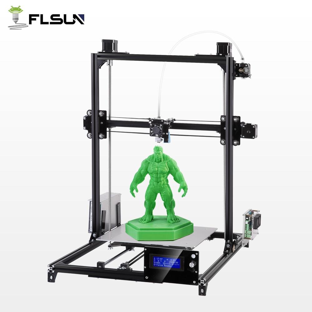 2018 Flsun Grande Zone D'impression 300*300*420mm 3D Imprimante Auto Nivellement Métal Stracture Haute Précision Chauffée lit Kit filament