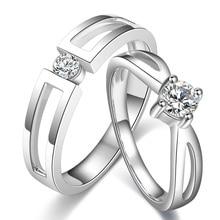 Love Diamond Ring 18K White Gold Diamond Wedding Rings Couple Set Genuine Gold Engagement Ring Wedding Band
