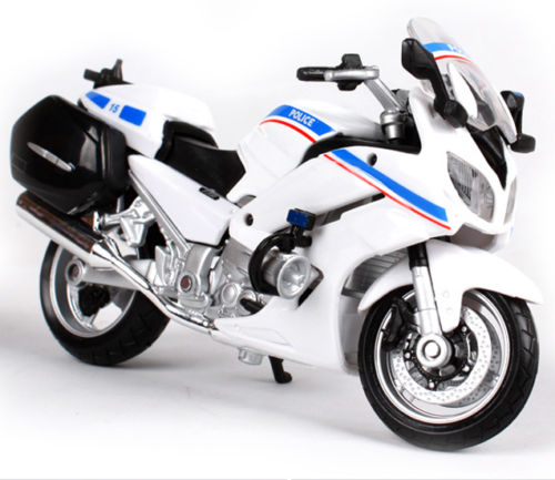 US $18 76 10% OFF|1:18 Motocycle Model White Yamaha FJR 1300A Police Racing  Moto Diecast Motorcycles Children Birthday Gift Collections-in Diecasts &