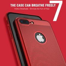 Hollow Heat Dissipation Phone Case For iPhone 7 Plus X XS MAX XR Ultra Slim Cases Hard 6 6s 8 Cover Funda