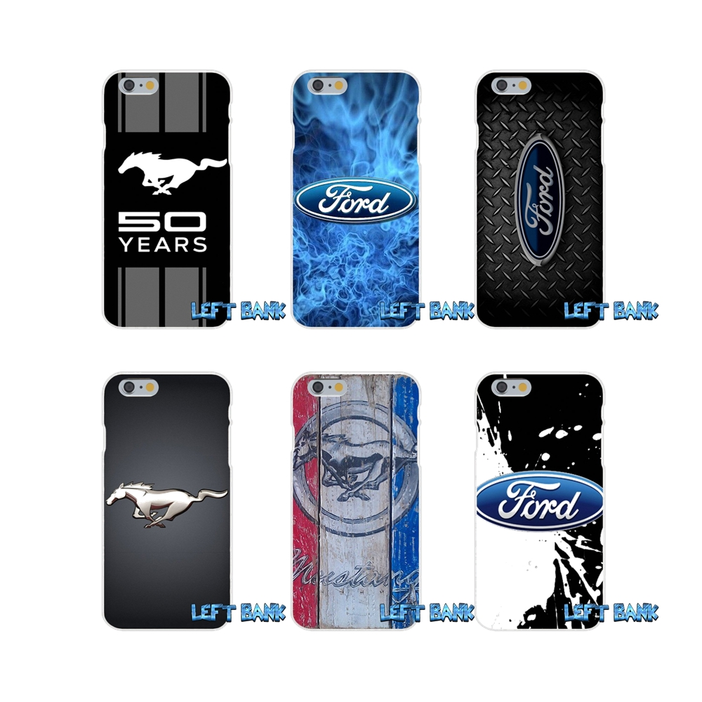 For ford mustang gt concept logo slim silicone case for iphone x 4 4s 5 5s 5c se 6 6s 7 8 plus