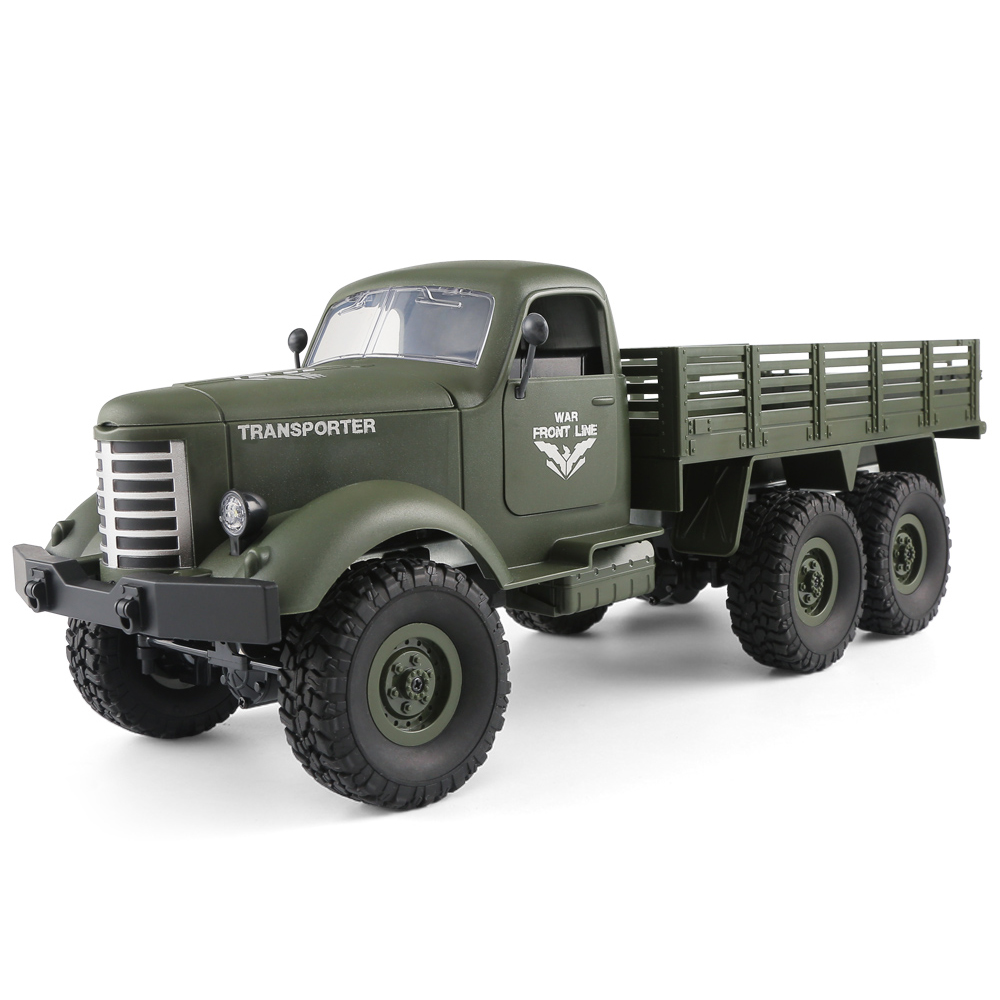 JJRC RC Cars Remote Control Toys Q60 Rc Car 1:16 2.4G Radio-Controlled 6WD Tracked Off-Road Military Truck Car Rtr Toys For KidsJJRC RC Cars Remote Control Toys Q60 Rc Car 1:16 2.4G Radio-Controlled 6WD Tracked Off-Road Military Truck Car Rtr Toys For Kids