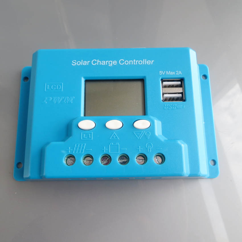New type 30A 12V 24V intelligence Solar cells Panel Battery Charge Controller Regulators LCD font b