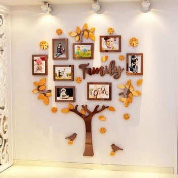 3D อะคริลิค DIY ครอบครัวกรอบรูปต้นไม้สติ๊ก
