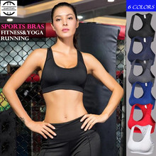 Women Girl Pro Sports Bras Running font b Fitness b font Sport Blouse Quick dry Breathable