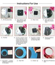 Modern 3D Acrylic Mirror Quartz Stickers DIY Wall Clocks