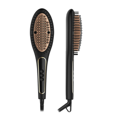 CHJ Electric Comb Ceramic Hair Straightening Irons 450F Digital Hair Straightener Brush LCD Display Fast Heating up Hair Brush