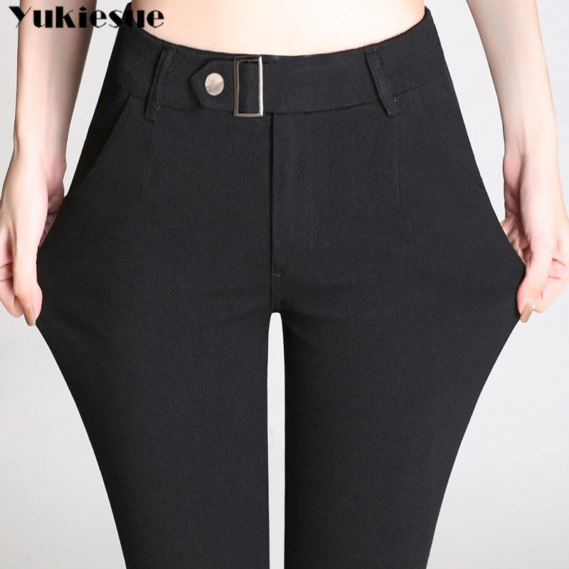 streetwear women's   pants     capris   with high waist skinny pencil   pants   for women trousers woman   pants   female Plus size black white