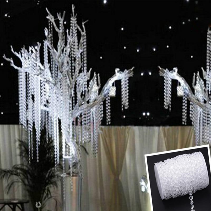 30m Acrylic Crystal Beads Clear Diamond Wedding Party Home Garland