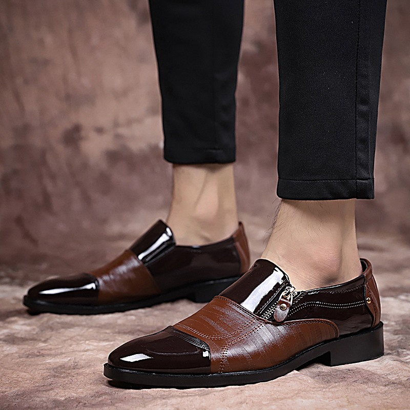 Man Genuine Leather Fashion Shoes Slip on Black Male Cow Leather Loafers Comfortable Man Casual Luxury Footwear in Men 39 s Casual Shoes from Shoes