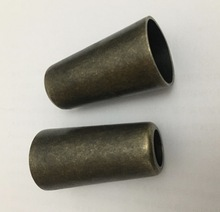 H:62MM. Inner diameter:31mm Bronze round foot sleeve Sofa chair furniture alloy conical