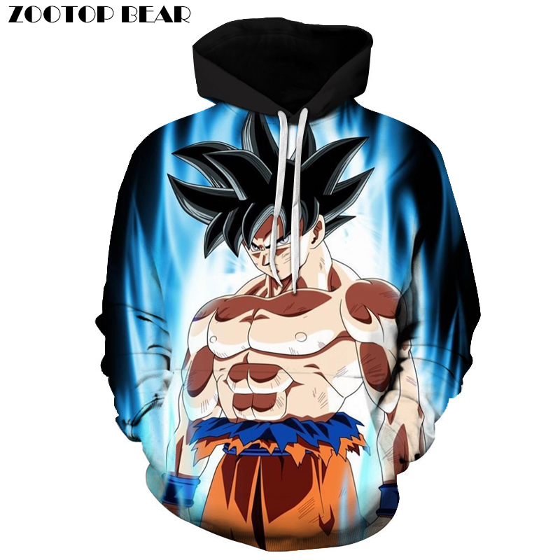 Super Muscle Fighting Goku 3D Print Hoodies Dragon Ball Long Sleeve Band Hoodie Men Women Pullover Tracksuit Sweatshirts DropShi