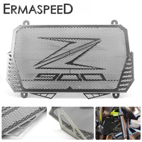 Black Motorcycle Radiator Guard Gloss Stainless Steel Grille Bezel Radiator Net Protective Cover For Kawasaki Z900 2017
