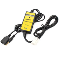 6 + 6PIN Car Radio Digital USB MP3 Interface CD Changer Adapter with 3.5mm AUX In Input for TOYOTA LEXUS Corolla Series