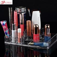 Professional Clear Acrylic Cosmetic Storage Display Lipstick Stand Rack Holder Jewelry Display Makeup Organizer Free Shipping