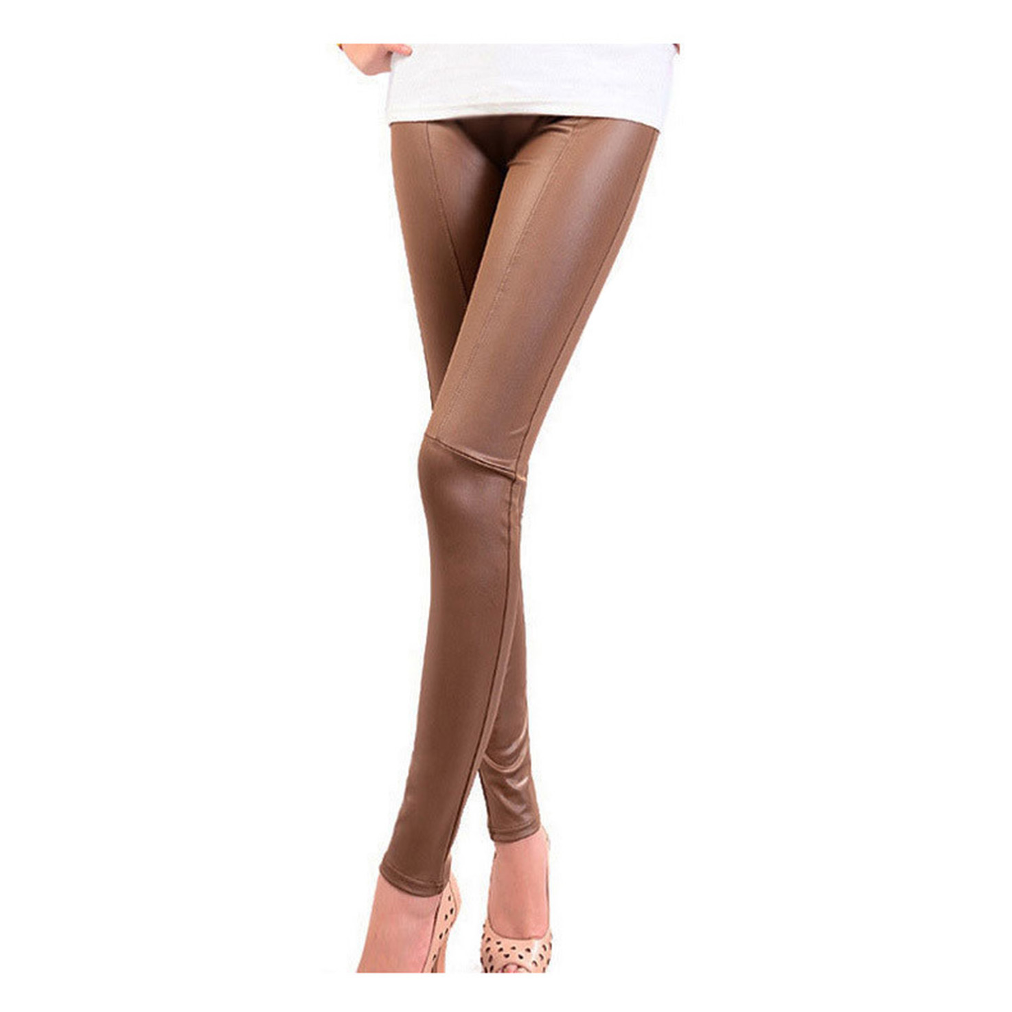MOCH New Arrival Capris Leggings Stretch Leggings Jeggings Treggings Leatherette Fashion 4 size 3 Colors