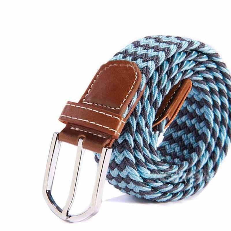 Fashion Men Elastic Stretch Waist   Belt   Braided Woven PU Leather   Belt   New GDD99