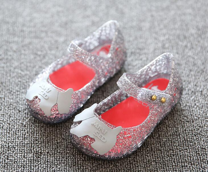 Fashion Mmini sedBaby Girls Ballet Shoes Girls Jelly Show Bow Ballet Shoes Soft Comfort 3 Color High Quality Children Sandals ...