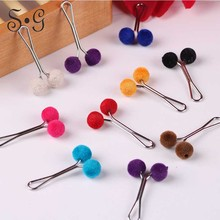 New Hijab Buckles Brooches Cute ball /heart Stainless Steel Clips Women Broches 12PCS Scarf Clip Hijab Pin Brooches for girls